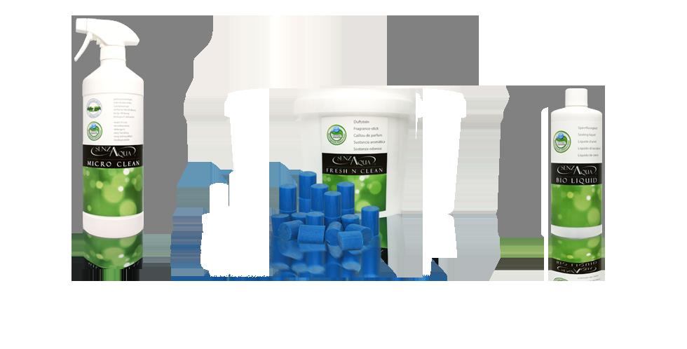 Senza Aqua Das wasserlose Urinal/ Pissoir Verbrauchsmaterial Sanitärreiniger, Aktiv Steine, Bio Liquid Speerflüssigkeit